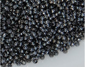 METAL SEED BEADS, size 15, Gunmetal, sold in units of approx 5 gms.