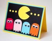 Pac Man Card, Blank Geek Card