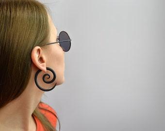 Ear Plugs or Fake Gauges, Tribal Spirals, Fake Plugs, Gauge Earrings, Ear Gauges, Tribal Earrings, 6g 4g 2g 0g 00g 7/16 1/2 9/16 5/8 3/4