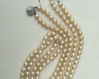 "Vintage Double Strand ""faux"" Pearls"