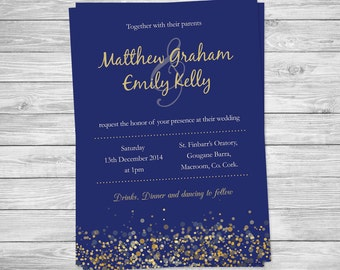 Printable Wedding Invitation - winter wedding invite