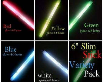 25 pack slim stick 6 inch glowstick for crafts weddings halloween - Glow Sticks For Halloween