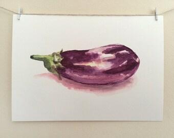 50% OFF A4 'Aubergine' Art Print