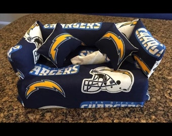 San Diego Chargers Couch Sofa Tissue Cover with pillows