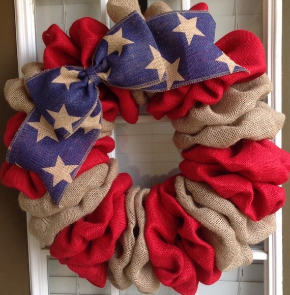 Patriotic Wreath Memorial Day Wreath 4th Of July Wreath