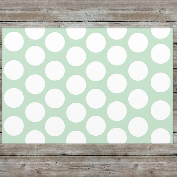 Mint Rug Nursery Rug Polka Dot Rug Girls Room Decor