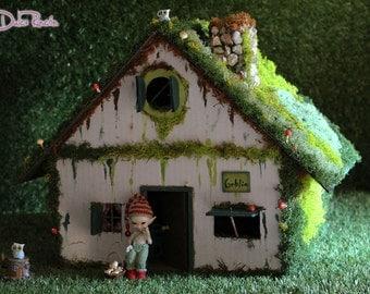 Forest miniature House for Realpuki, goblins, fairies, fairyland