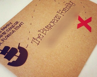 Pirate Party Invitation Envelope 5x7