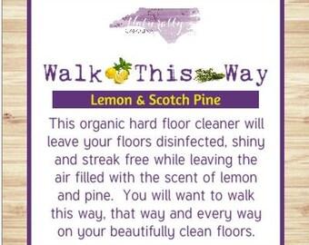 Organic Hard Floor Cleaner, Steam Mop Cleaner