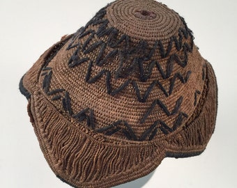 Rare Handmade African Baby Straw Hat
