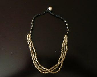 Brass Tribal Necklace, Ethnic Brass Necklace