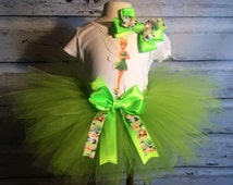 Tinkerbell Themed Birthday Outfit,Disney Tinkerbell Outfit,Peter Pan Tinkerbell Tutu,Handmade Tinkerbell Outfit,Custom Tinkerbell Tutu Dress