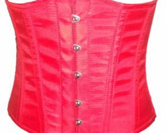 Red Underbust Satin Top Waist Cincher Bodyfit