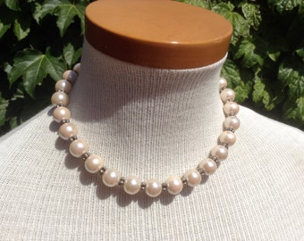 73} 925 Faux Pearl Necklace 16 inches