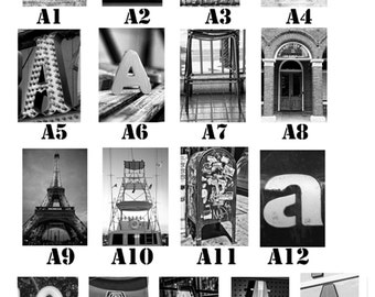 A thru G list of Letters