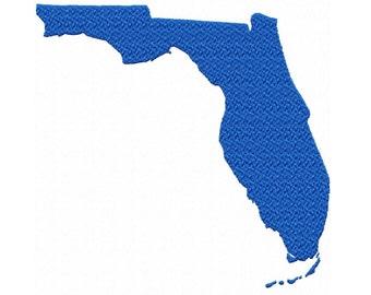USA State Florida Fill Machine Embroidery DESIGN NO. 361