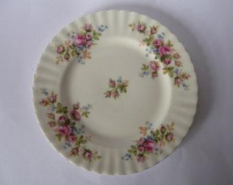 "Vintage China Royal Albert 'Moss Rose' Salad or Dessert Plate - 20.5cms (8 "")"