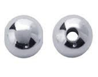 Acrylic Silver 10mm Ball - Pack 15