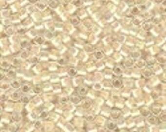 MIYUKI #11 Delica 52 - Cream Lined Crystal AB - 5 grams