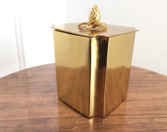 Heavy Polished Brass Tea Container Box
