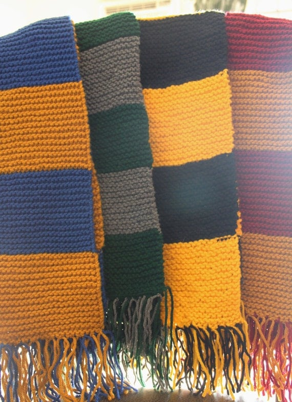 Hogwarts House Scarf by LavenderandFritz on Etsy