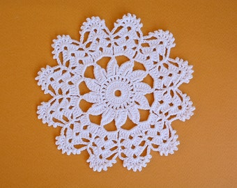 Crochet White Doily, Small Wedding Doily, White Doily, Small Doily, New Hand Crochet Doily, Round Doily, Crochet Lace Doily