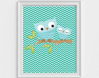 Owl Baby art print, art prints for kids, art prints for kids, wall decor art prints, wall decor art print, nursery art print, kids wall art