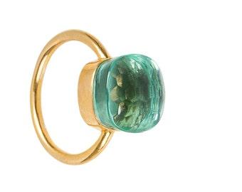 Ring with Aquamarine