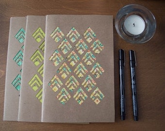 Diamond Cut Out Blank Paper Notebook