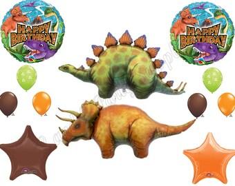 DINOSAUR Birthday Balloons Decoration Supplies Prehistoric Triceratops T-Rex
