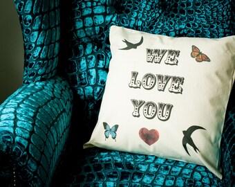 Decorative Cushion. Decorative pillow. 45cm x 45cm. Artwork by Gail Jones. For interiors. Style. Living rooms. Homes. Starkeys Lane.