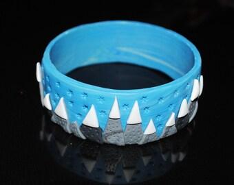 Polymer clay mountain bracelet
