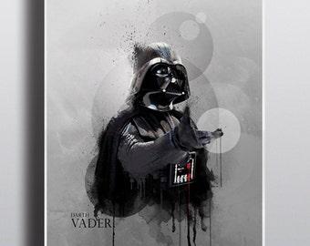 Star Wars Inspired Print - Watercolor Darth Vader Art Print