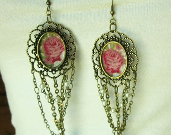 Bohemian earrings Lilas handmade