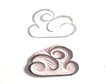 Cloud Rubber Stamp | 014078