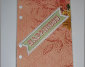 Sweet Happiness Rose & Green Personal Planner Dashboard
