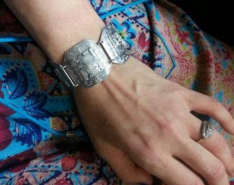 Peru Silver Panel Bracelet