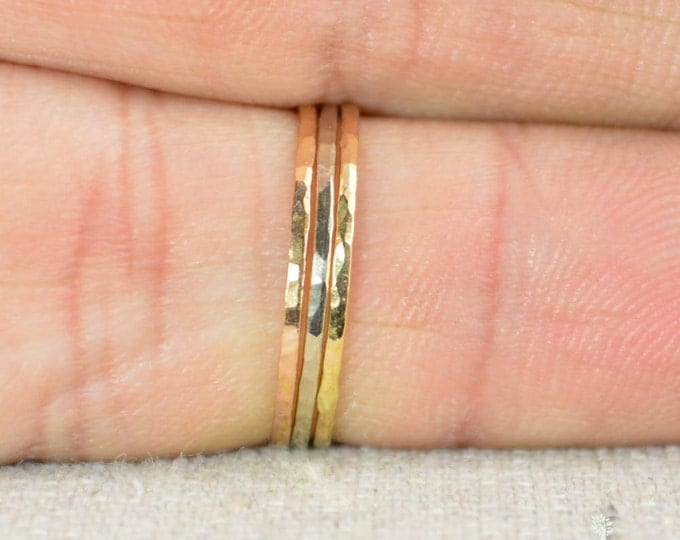 Solid 14k Yellow Gold Super Thin Stacking Ring, Minimal Gold Ring, Yellow Gold Ring, Solid Gold Ring, 14k Gold Ring, Real Gold Ring, Stack