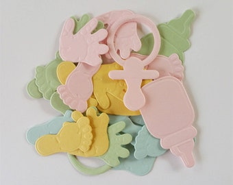 Baby Die Cuts- Hands, Feet, Pacifier, and Bottle