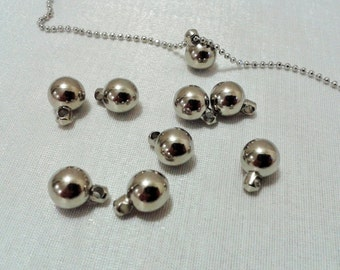 50  Pcs 8 mm Silver Tone Color Round Ball - 8 mm Necklace Round Ball -Excellent quality