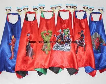 Kids Superhero Cape - Avengers Capes Hulk Thor Iron Man Spiderman Captain America Capes
