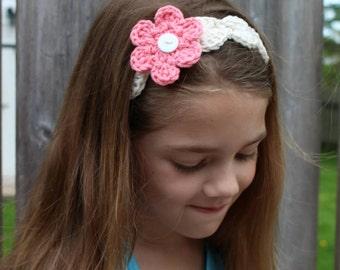 Tie-Back Interchangeable Flower Headband