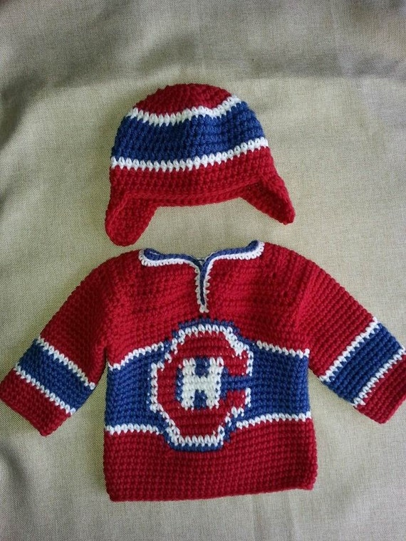 Montreal Canadiens Baby Hockey Sweater And Hat