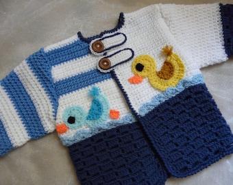Baby Cardigan Mama Duck