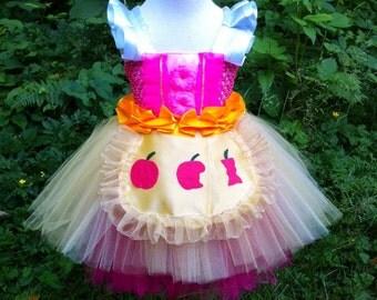 snow white costume/Doll themed birthday/Apple cupcake tutu dress