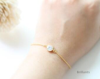 Zircon bracelet, Bridesmaid bracelet, Bridesmaid set, Everyday bracelet