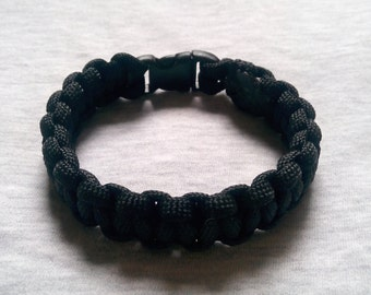 Black Paracord Bracelet (Cobra Weave)