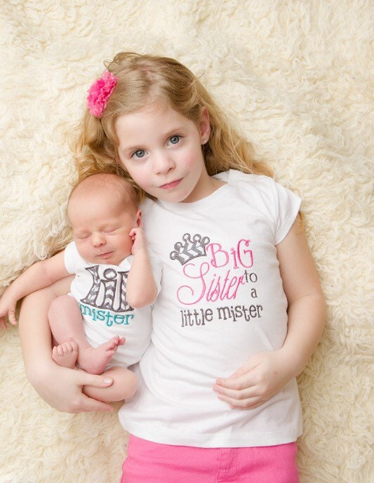 Matching Sibling Shirt Set 'Big Sister to a Little