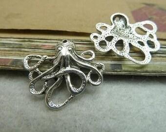 20pcs 21x24mm  Retro Octopus Pendant Charm For Jewelry Pendants