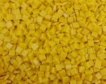 Resin mosaic tiles, 5x5 mm, Opaque effect, Empire Yellow